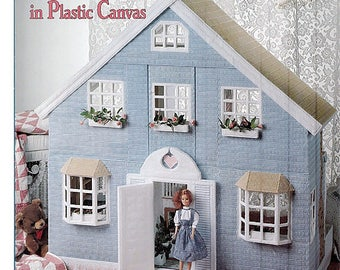Fashion Doll House in Plastic Canvas Pattern Book. American School of Needlework 3111