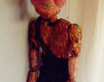 devil wooden marionette puppet