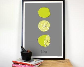 High Quality Lime kitchen wall print - Giclee print