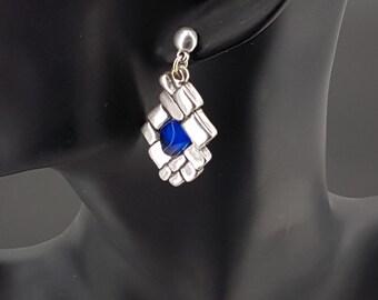 Boho earrings, oversized earrings, Spanish earrings, silver earrings, uno de 50 Style Earrings, zamak earrings