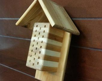 Mason Bee House - Mason Bee Hive - Bee Hotel - Native Pollinator Habitat - Organic Gardener - Organic Gardening - Garden Decor