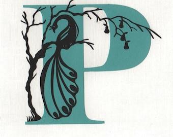 P is for Peacock - Original Papercut Art