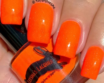 Neon Orange Indie Nail Polish - Girl, Look How Orange You Look!- 5-Free, Cruelty Free and Vegan