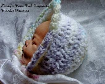 Sweet and Soft Winter Baby Bonnet pdf 246 Crochet Pattern