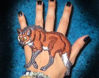 Rare Maned Wolf Chrysocyon brachyurus wolf Iron on Patch