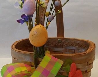"""Small Gift Basket  """"LEMON ICE"""" - oval"""