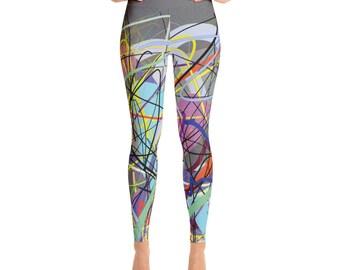 SGRIB Print Women's Fashion Yoga Leggings - xs-xl sizes - design number sixteen - on darkgray sand