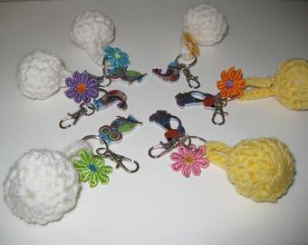 door keys/jewelry bag crochet ball