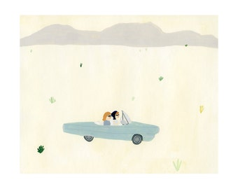 Thelma and Louise Print 11x14