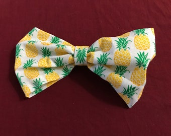 Pineapple Pattern Fabric Bow!