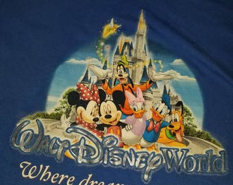 Vintage Walt Disney World Blue T- Shirt Size 3XL(L-XL)