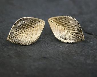 Wedding Gold Grecian Leaf Earrings, Grecian Goddess Stud Earrings, Leaf Stud Earrings, Greek Goddess Earrings, Bridesmaid Bridal Earrings