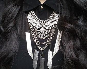 Boho Necklace, Handmade Necklaces, Silver Necklaces, Statement Necklaces, Bib Necklace
