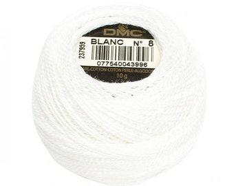 DMC BLANC Perle Cotton Thread | Size 8 | White, White off, Natural
