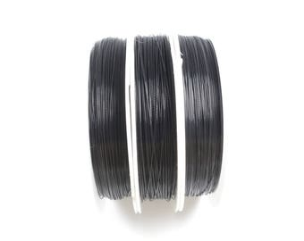 70 metres of 0.35 mm black Tiger tail wire