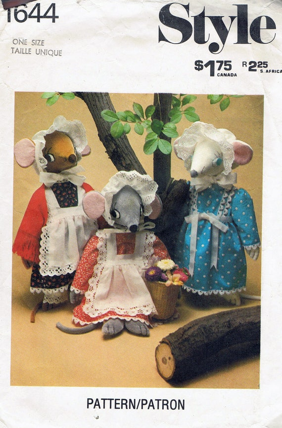 Mouse Doll Sewing Pattern - Mouse Doll Family With Clothes Sewing ...