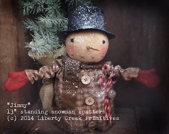 Primitive Standing Snowman Jimmy Epattern
