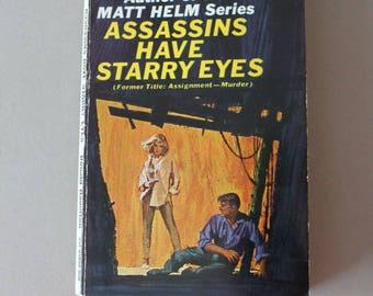 """Crime Novel """"Assassins Have Starry Eyes"""" 1956"""