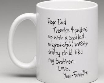 Dear Dad - CUSTOMIZABLE Coffee Cup