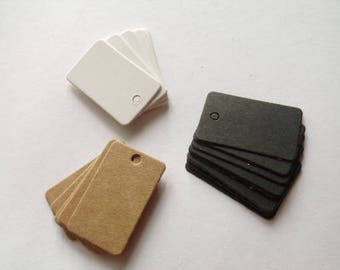 50 mini Tags labels hardback 2cmx3.3cm American