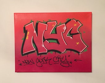 Graffiti Art NYC - Graffiti Canvas - nyc graffiti art - graffiti artwork - nyc painting - small graffiti art - nyc graffiti painting