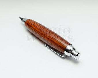 Wood Artist / Workshop Sketch Pencil - Cocobolo with Chrome Accents (5.6mm Lead)