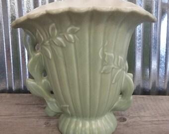 1950's Red Wing Vase-Vintage Vase-Midcentury Vase-Red Wing Pottery-Vintage Red Wing-Green Vase-Midcentury Pottery Vase-Vintage Urn Vase