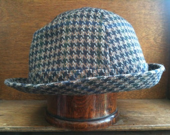 Vintage Canadian Houndstooth Hat Size 60 7.5 circa 1960-70's / English Shop