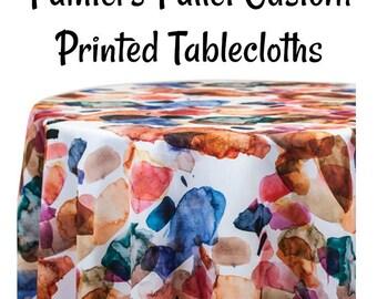 Custom Tablecloth Painters Pallet -Custom Printed Paint Pallet Print Tablecloth - Printed Tablecloth
