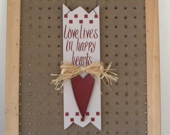 Love Lives in Happy Hearts, Love Sign, Heart Sign