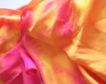 Yellow/Magenta Silk Scarf