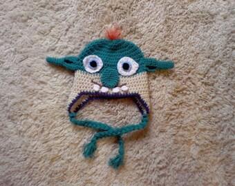 Crocheted Toddler Hat, Crocheted Baby Hat, Monster Hat