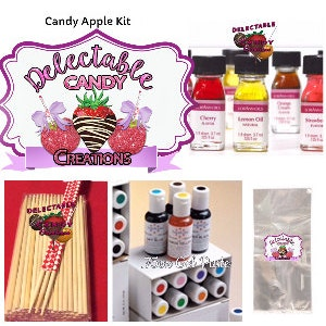 Candy Apple Kit-Candy Apples-Candy Apple Colors-Candy Apple Supplies-Candy Apple Sticks-Candy Apple Bags-Candy Apple Flavor