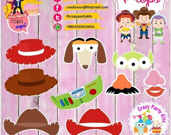 Props Toy Story Kit #Imprimible (#Accesorios) #DIY PhotoBooth