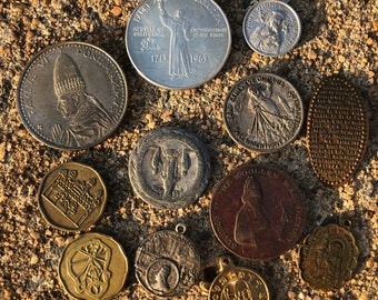 Lot of religious coins