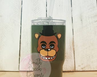 Five Nights At Freddy's Tumbler/ FNAF/ FNAF Tumbler/ Kids Tumbler/ Kid's FNAF Tumbler/ Freddy Fazbear Tumbler