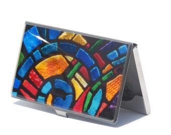 Business Card Holder- Corporate Gift-  Subway Art - City Art - Graduation Gift - Gift for Her- Gift for Him- Mosaic Art- New York City