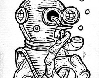 Diver (original drawing)
