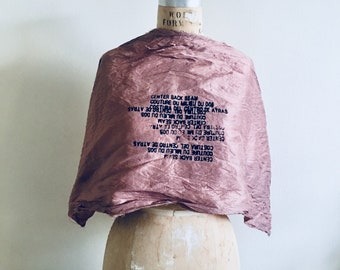 sale Silk Scarf, new, text printing small scarf, washed silk