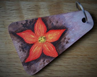 Hand painted keyring