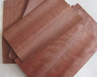 Natural Wood Veneer, 10 Wooden Sheets, Wood Veneer Craft,  Natural Decor
