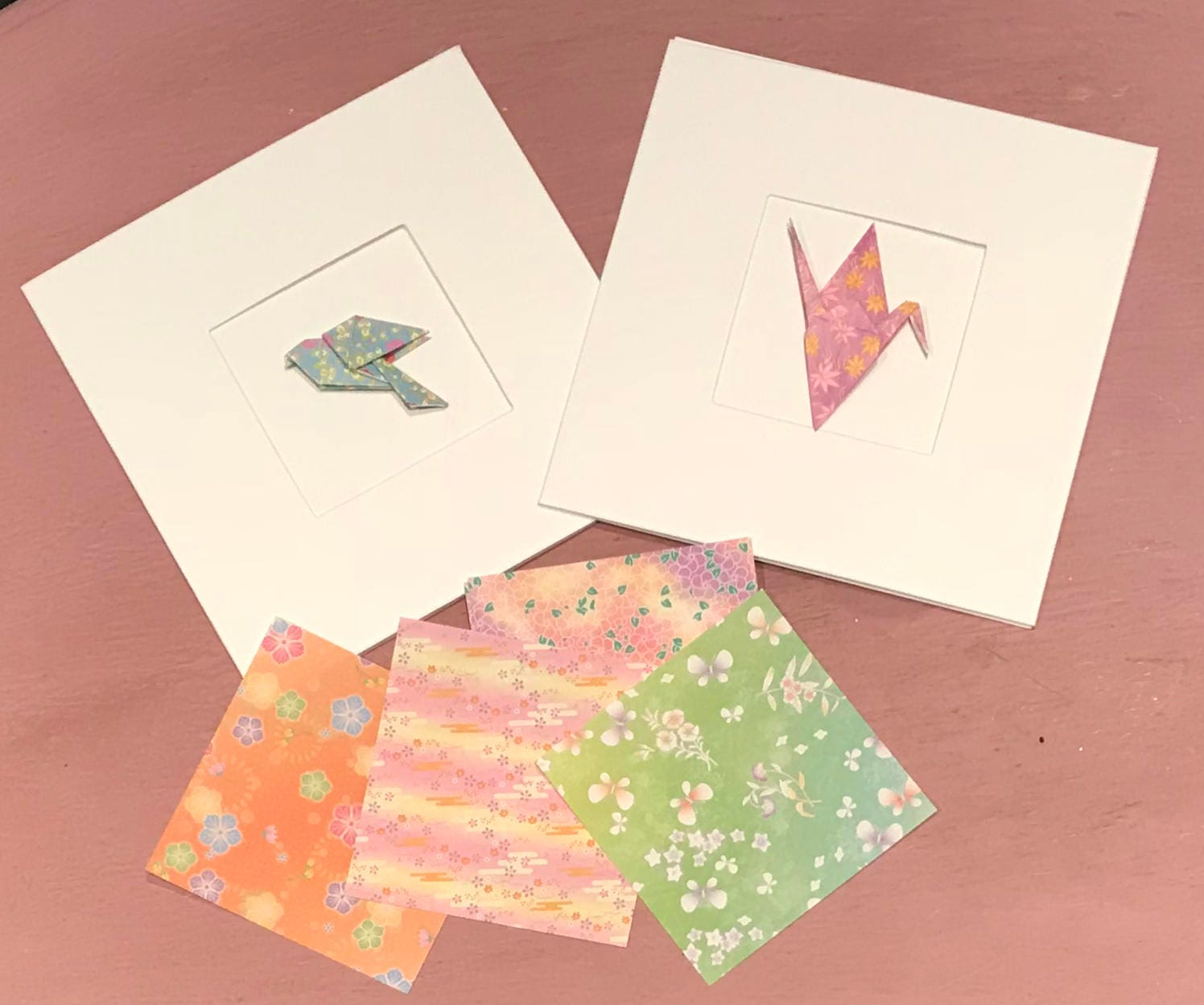 Two personalised origami greetings cards fiver friday offer zoom jeuxipadfo Image collections