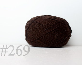 WOOL yarn 100%-knitting yarn -  cofee brown #269