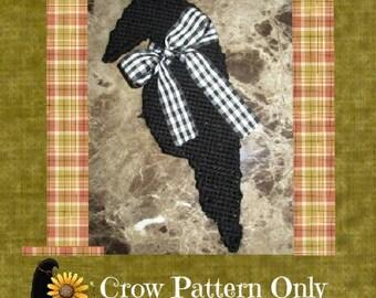 Primitive Prim Crow Plastic Canvas Pattern