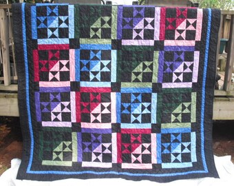 Amish Style Queen/King size Quilt - With a Modern Twist!