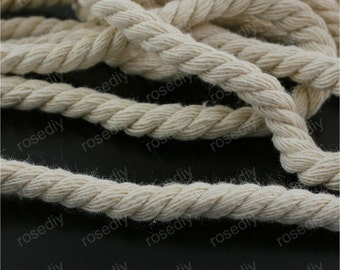 5Meters 5mm Natural Cotton Cord Cotton Rope Natural Cotton Rope M29809