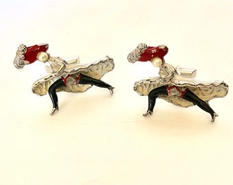 Vintage Can Can Girls Moulin Rouge Cufflinks