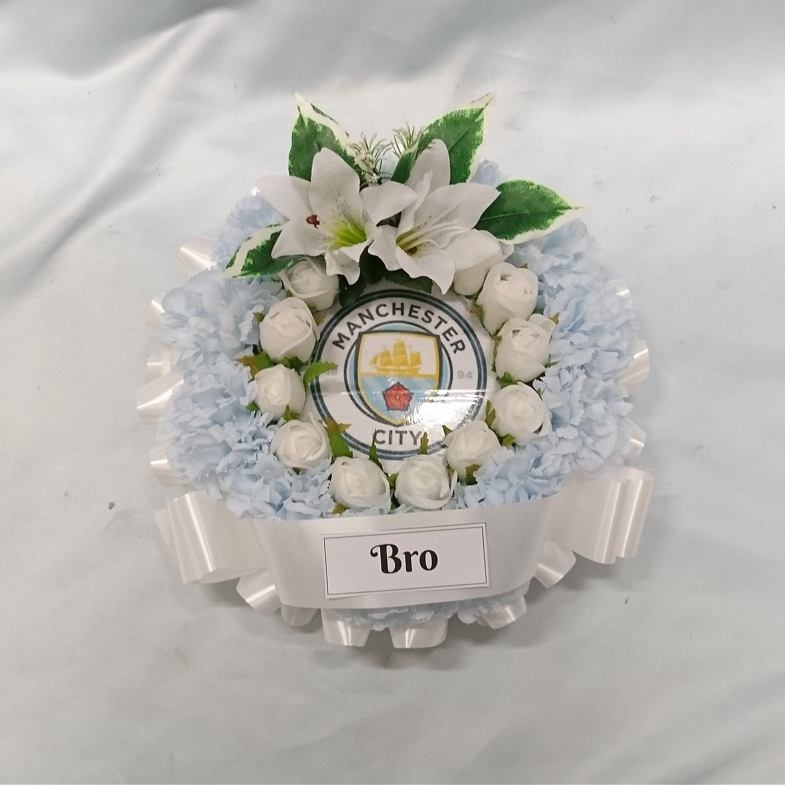 Silk artificial tribute funeral grave round posy wreath zoom izmirmasajfo