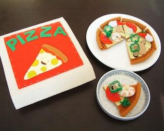 Felt food pattern-Seafood Pizza takeaway-PDF via Email-F31