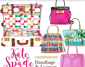 Kate Spade handbag clipart purse clipart fashion illustration fashion clipart fashion graphics glam clipart planner graphics Printablehenry